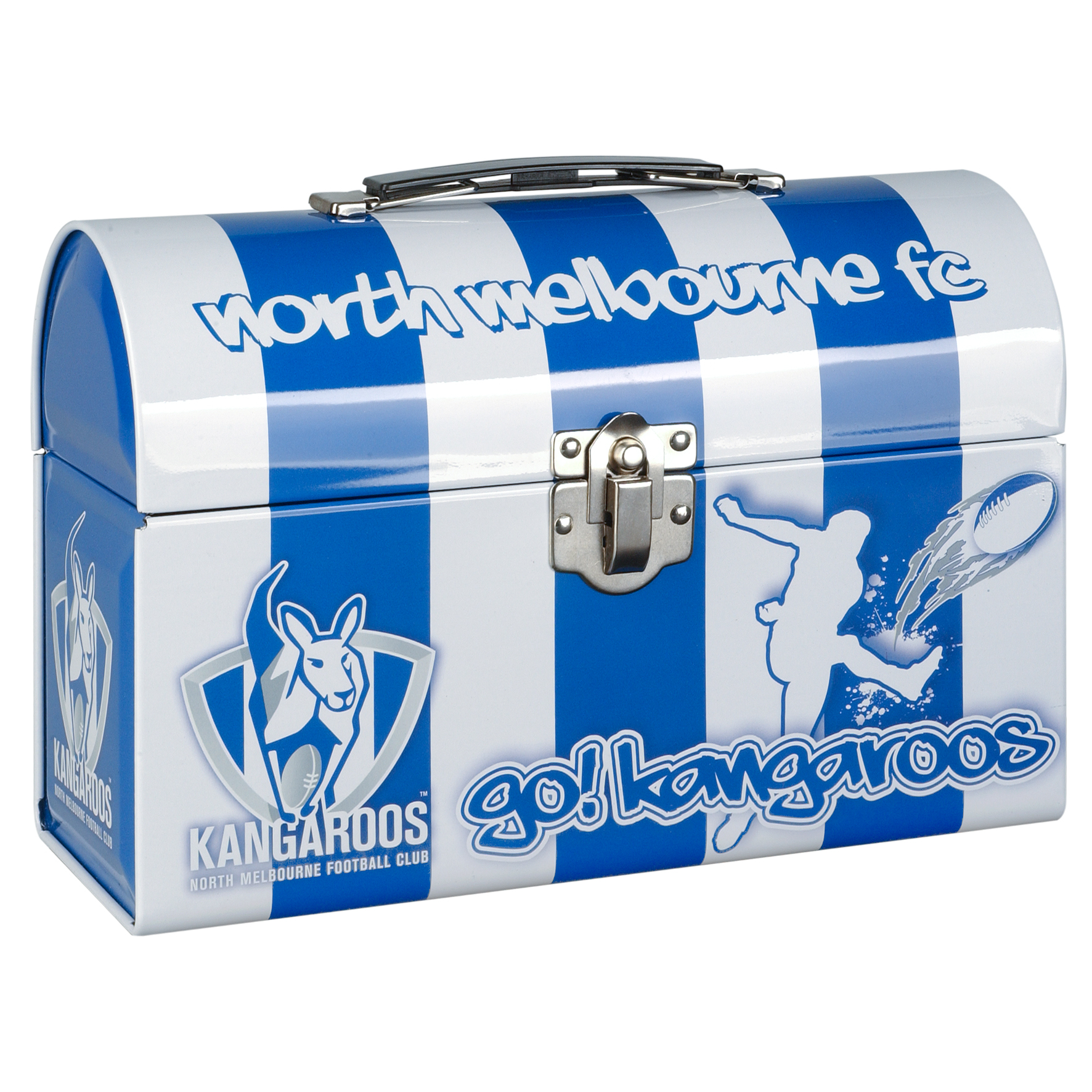 North-Melbourne-Kangaroos-AFL-Tin-Tote-Collectors-Tin-Lunch-Box
