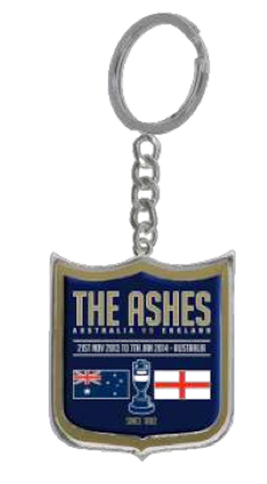 Cricket-Australia-Ashes-Series-2013-Metal-Logo-Key-Ring