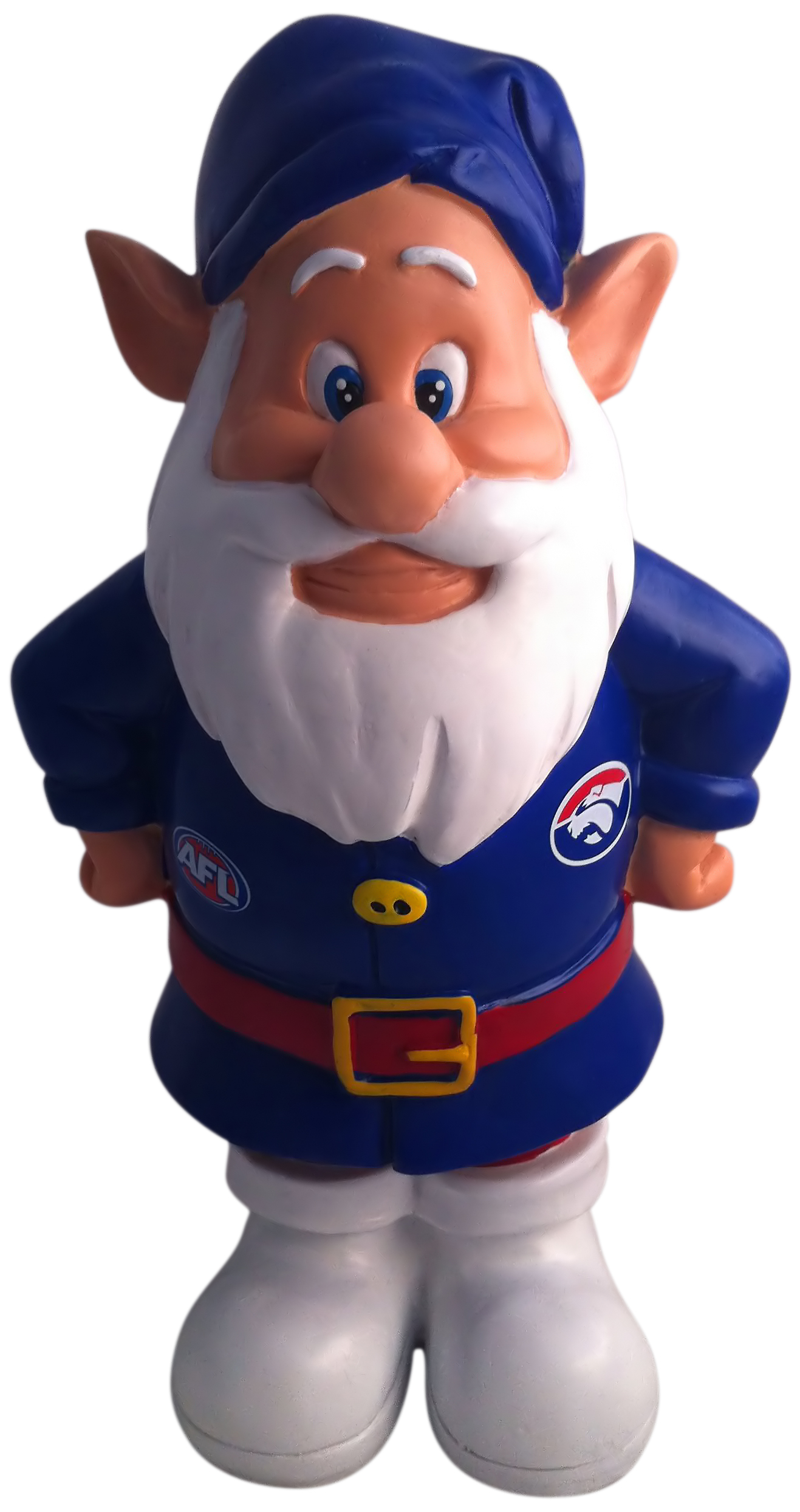 Western-Bulldogs-AFL-Garden-Gnome-In-Team-Colours-2012-Model