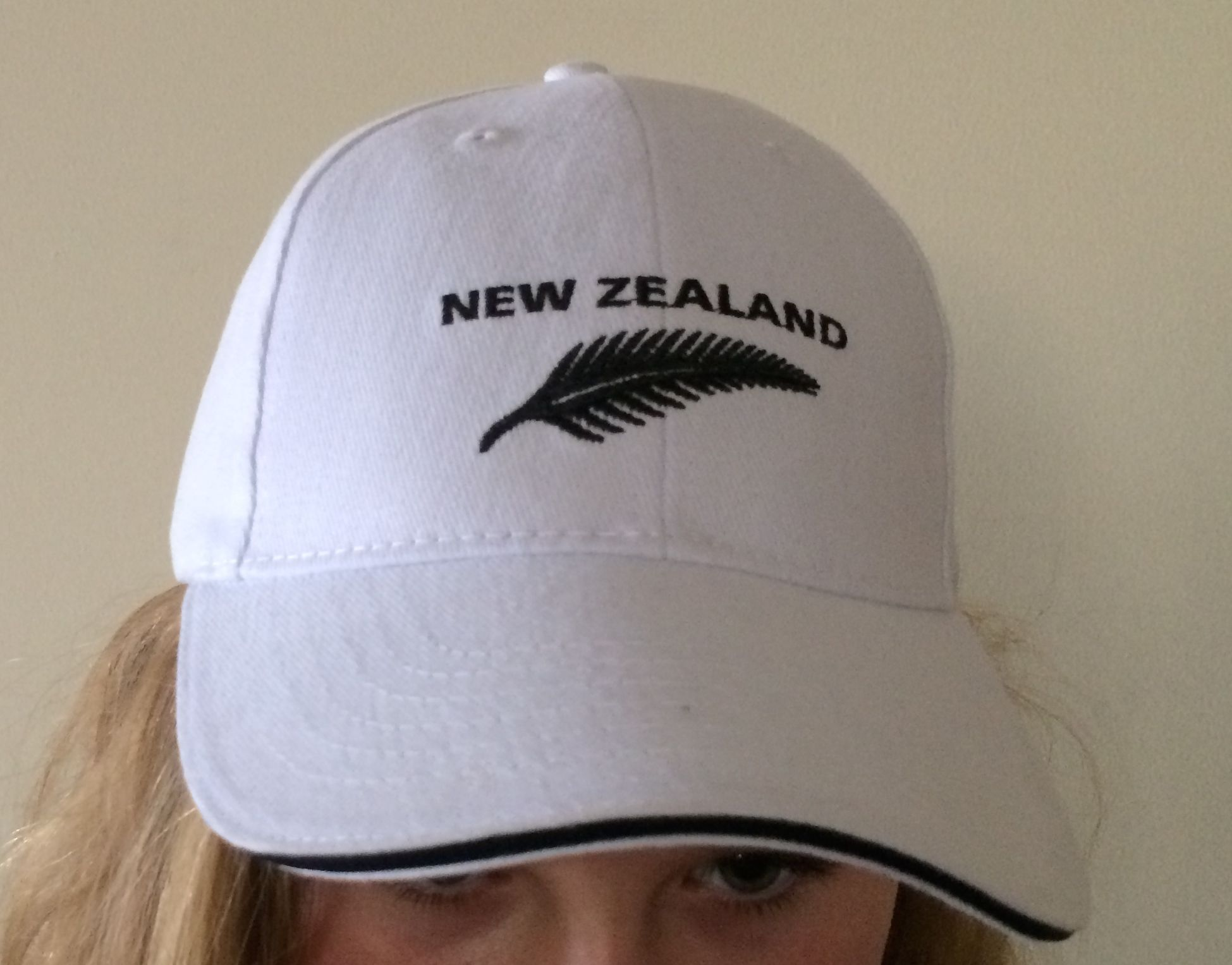 new zealand supporters white new zealand cap l xl ebay. Black Bedroom Furniture Sets. Home Design Ideas