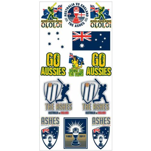 Cricket-Australia-The-Ashes-Vs-England-Tattoo-Pack