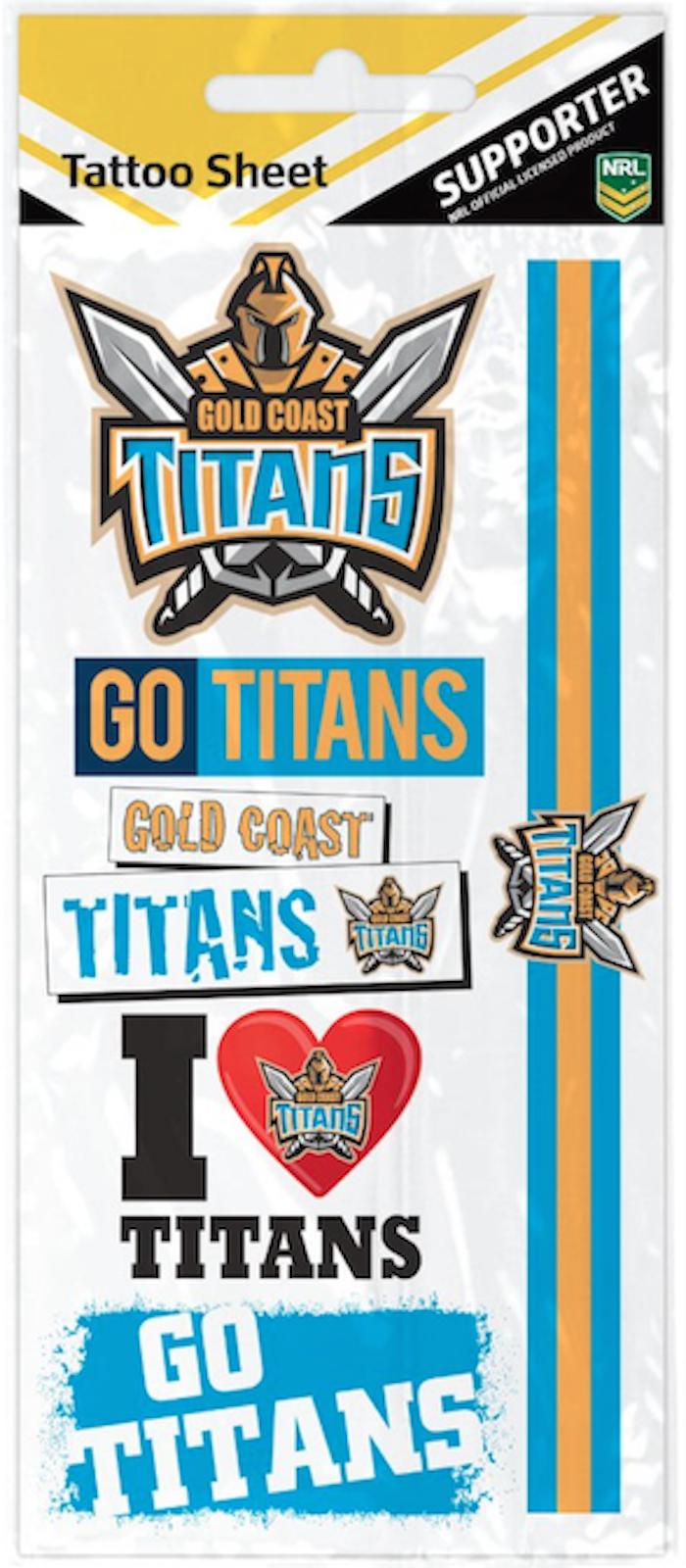 Henna Tattoo Gold Coast : Gold coast titans nrl temporary tattoo sheet ebay