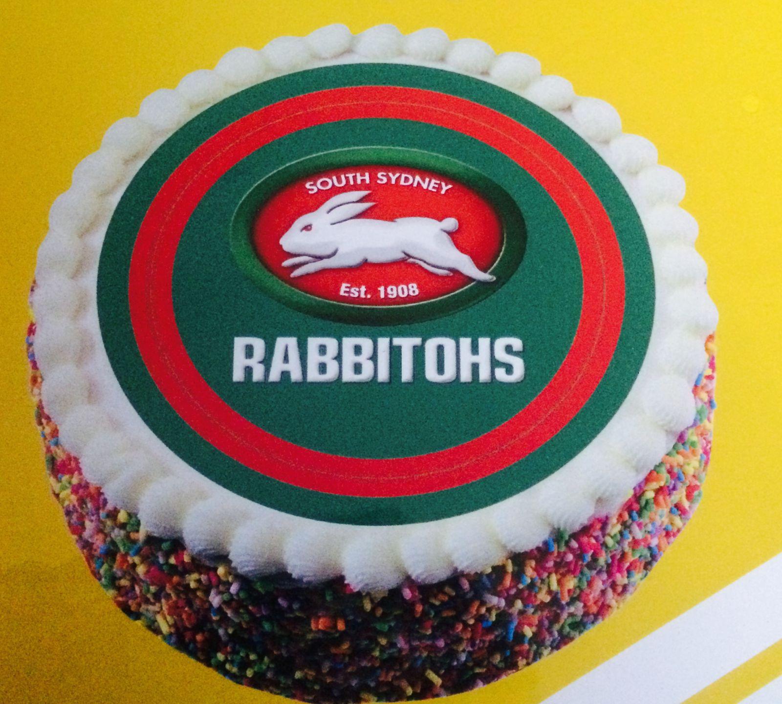 South Sydney Rabbitohs NRL Team Borded Edible Cake Image ...