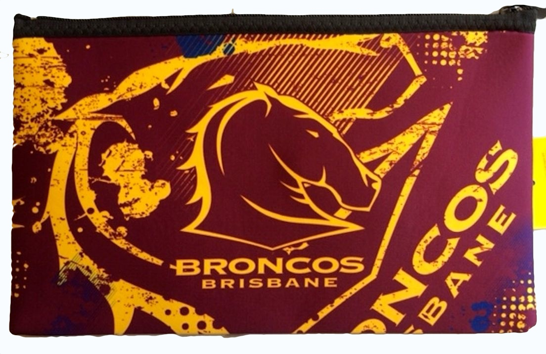 Brisbane Broncos Nrl Large Neoprene Team Colour And Logo