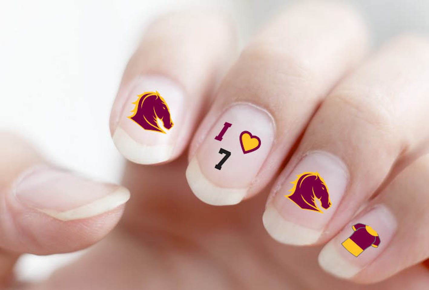 NRL Nail Art Decal Stickers For Gel or Polished Nails - Select Team ...