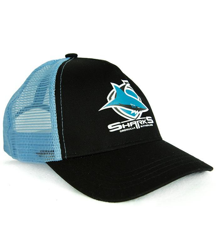 bc4c5cc6436 Details about Cronulla Sharks NRL Childs Size Snapback Trucker Hat Cap