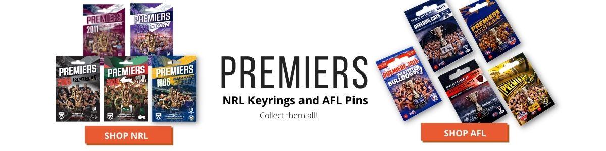 Premiers-AFL-pins-NRL-Keyrings
